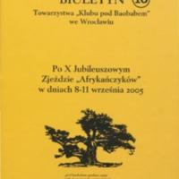 """Biuletyn Towarzystwa """"Klubu pod Baobabem"""" - Nr 10"""