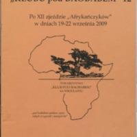 """Biuletyn Towarzystwa """"Klubu pod Baobabem"""" - Nr 12"""